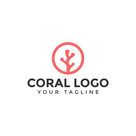 Illustration of Simple Coral Logo Design Template For Your Company