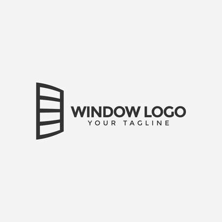 Illustration of Window Logo Design Template For Your Company