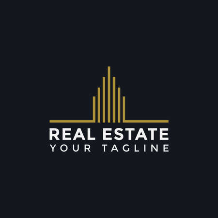 Illustration of Abstract Simple Elegant Real Estate Logo Line Design Template For Your Company