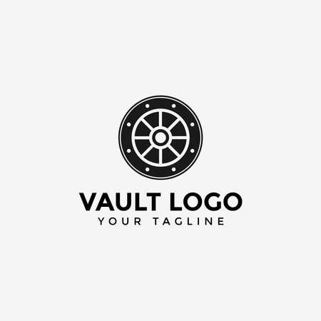 Vault Logo Design Template Illustration