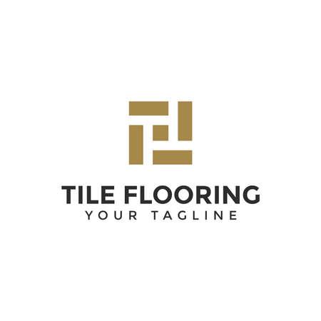 Elegant Tile Flooring Logo Design Template Illustration Ilustração