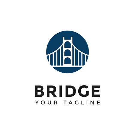 Circle Bridge Logo Design Template