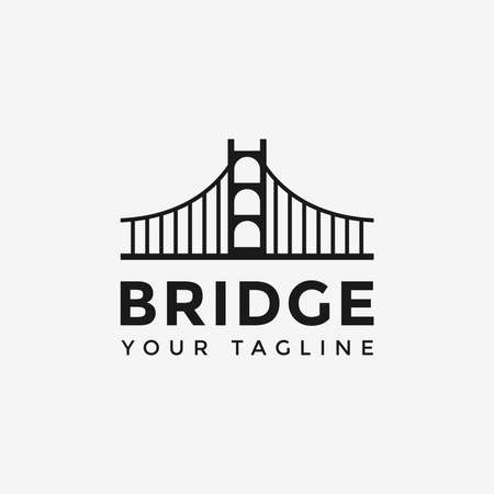 Simple Bridge Logo Design Template Ilustracja
