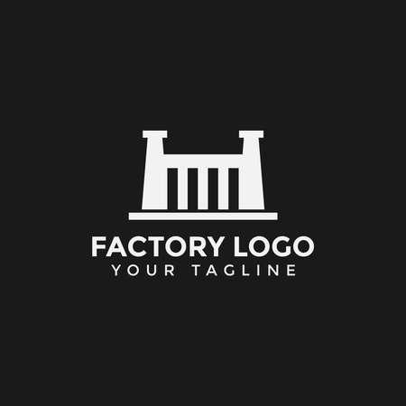 Simple Factory Building Industry Logo Design Template Иллюстрация