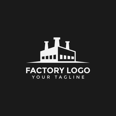 Factory Building Industry Logo Design Template Иллюстрация