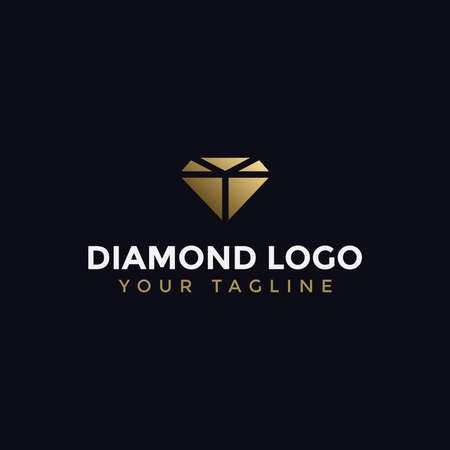 Abstract Elegant Diamond Jewelry Logo Design Template