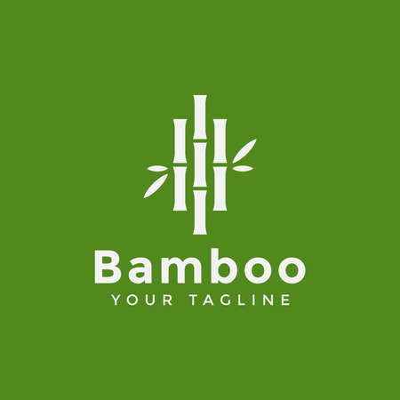 Green Bamboo Logo Design Template
