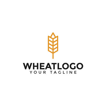 Agriculture Grain Wheat Logo Design Template