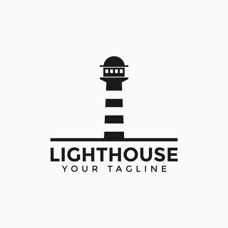 Lighthouse, Beacon Logo Design Template 일러스트