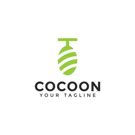 Abstract Cocoon Logo Design Template