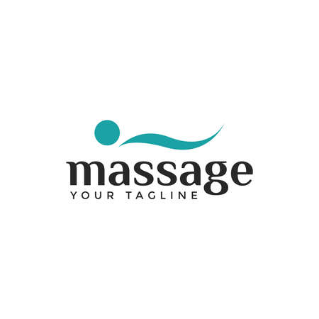 Massage, Therapy, Relaxing, Body Spa, Orthopedic spine Logo Design Template
