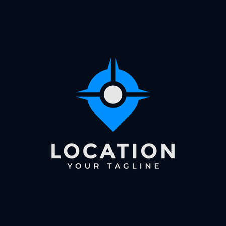 Location, Point, GPS, Position, Map Navigation, Place Logo Design
