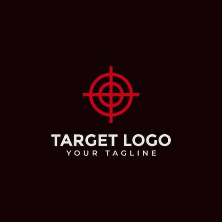 Target, Aim, Shot, Focus Logo Design Template 向量圖像