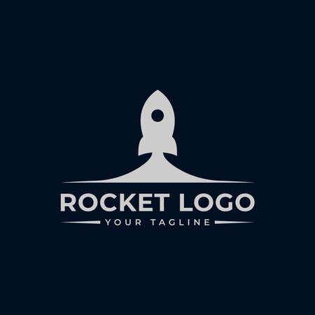 Simple Rocket Launch, Spaceship Logo Design Template