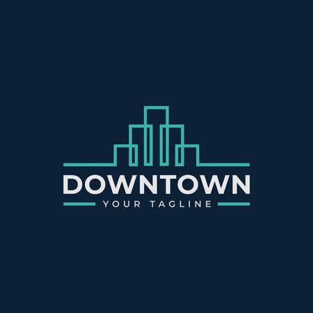 Simple Cityscape, Skyscraper, Skyline, Building, Town Logo Design