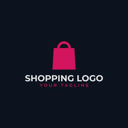 Simple Shopping Bag, Online Shop, Sale Logo Design Template 向量圖像