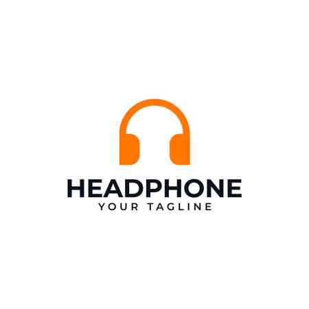 Simple Headphone, Music Studio Recording, DJ Logo Design Template