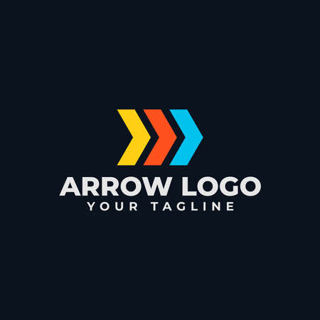 Simple Abstract Arrow, Business Logo Design Template