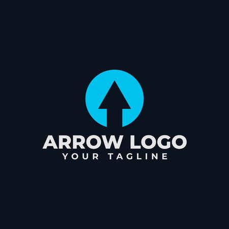 Circle Abstract Arrow, Business Logo Design Template