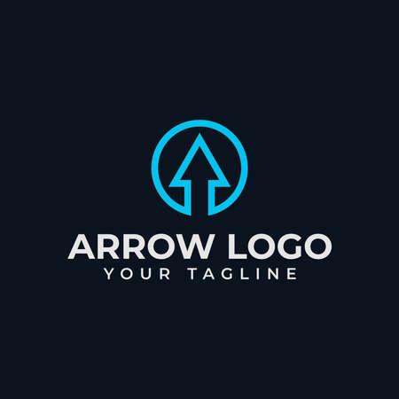 Circle Abstract Arrow, Business Line Logo Design Template 向量圖像