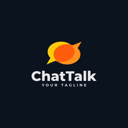 Talk Bubble, Chat, Consulting, Discussion, Comment Logo Design Reklamní fotografie - 133737125