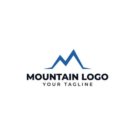Initial Letter M Simple Mountain Peak, Hill, Valley Logo Design 向量圖像