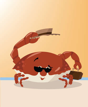 Summer Crab on Vacation Stock Vector - 26622167