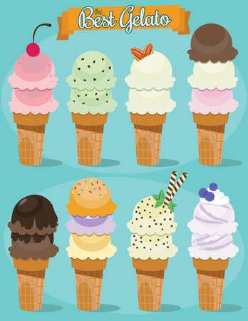 Ice cream Vector Pack Illustration