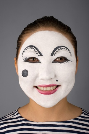 Smiling mime