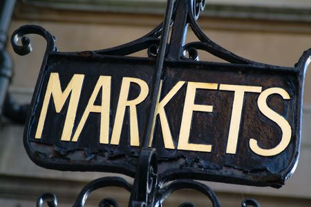institutions: Markets signage