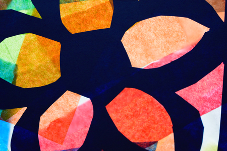glass paper: Childrens Tissue Paper Stained Glass Art