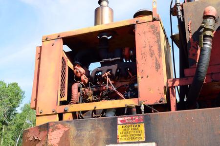 loader: Diesel Engine on Log Loader Stock Photo