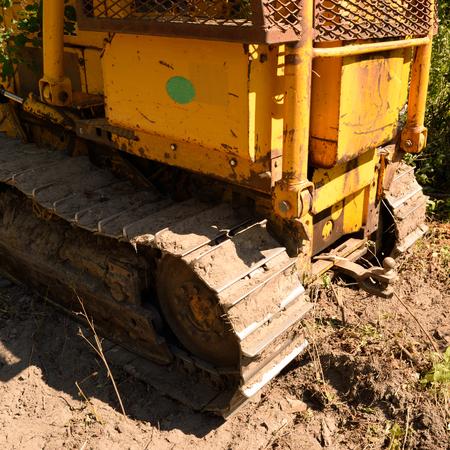 crawler: Tractor Crawler Bull Dozer Side View