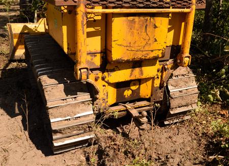 dozer: Tractor Crawler Bull Dozer Rear View