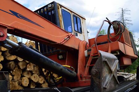 loader: Log Loader on Landing Stock Photo