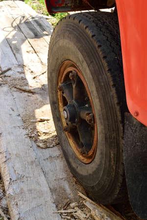 logging truck: Logging Truck Tire and Fender
