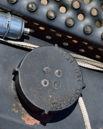 logging industry: Fuel Cap Labeled Diesel Fuel Only with Filter