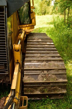 Crawler Dozer Track Pad and Cab Detail