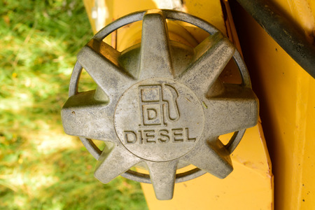 soot: Diesel Fuel Cap on Bulldozer