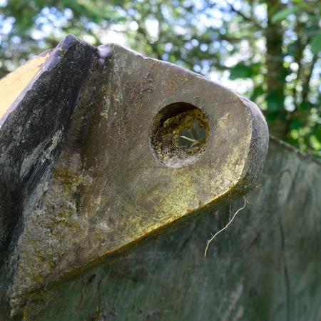 dozer: Dozer Blade Mounting Hole Stock Photo