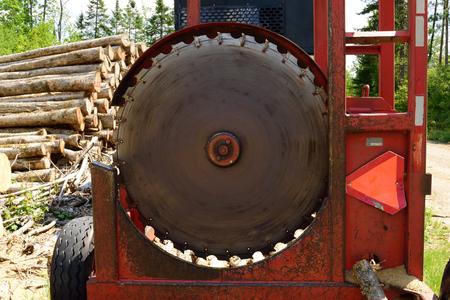 cutoff: Circular Log Cutoff Saw