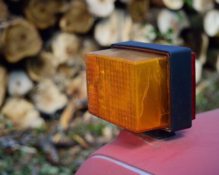 Turn Signal Indicator on Logging Truck