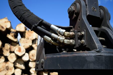 hoses: Hydraulic Hoses on Log Loader