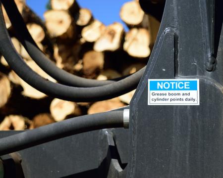 Grease Instructions on Log Loader