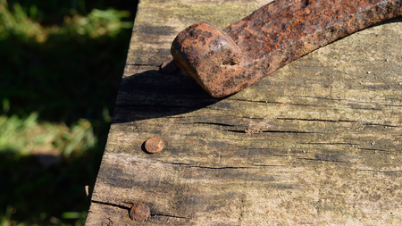 barnwood: Distressed Barnwood and Rusty Horseshoe