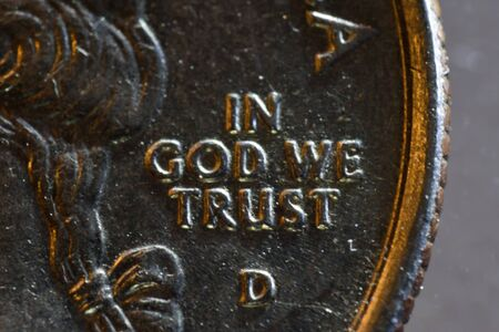 in god we trust: Macro View of American Coin