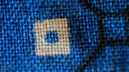 bandana: Blue Bandana Kerchief Close Macro