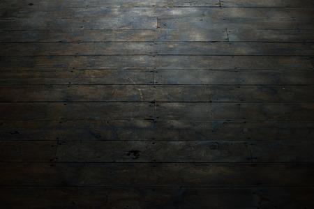 wood flooring: Damaged Wood Plank Flooring Stock Photo