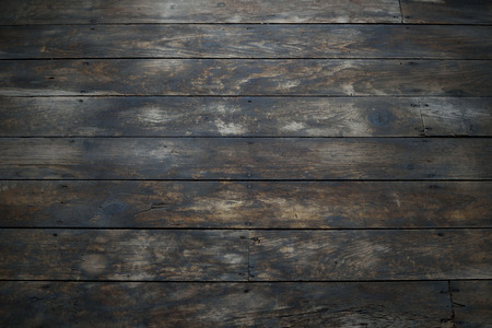 barnwood: Closeup of Damaged Wood Plank Floor Stock Photo