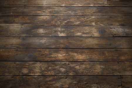 Closeup of Distressed Wood Plank Floor